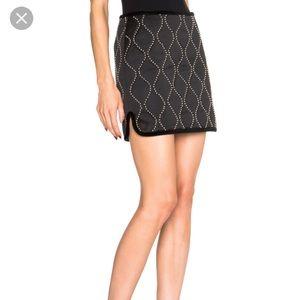 Alexander Wang Hourglass Studded Mini Skirt! NWT!